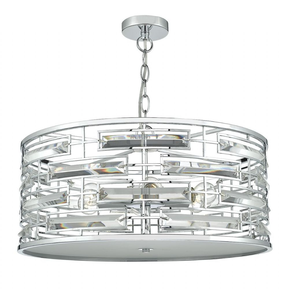 Seville 6 Light Pendant Polished Chrome Crystal (Class 2 Double Insulated) BXSEV0650-17